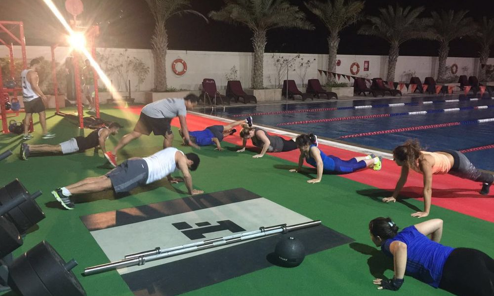 Outdoor Group Training at night_1